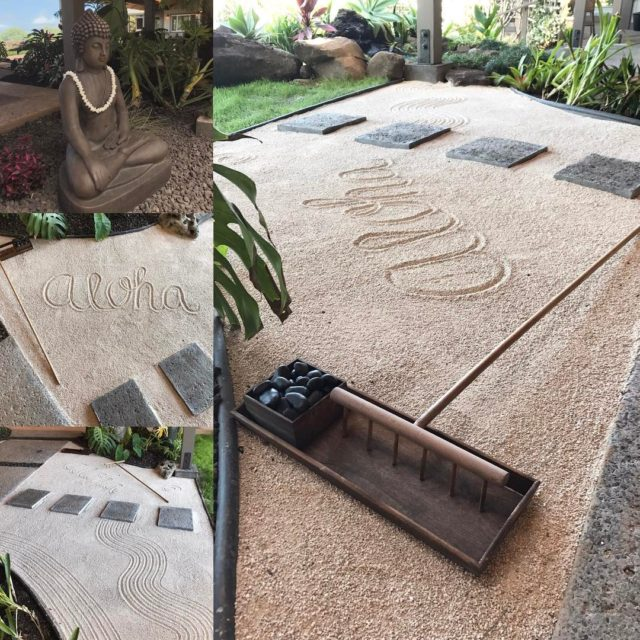Zen garden here at bnbinthemaking zengarden findyouraloha mauivacations mauitravel luckywelivehawaiihellip