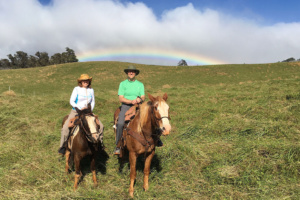 Rainbows and horseback at Piiholo Ranch