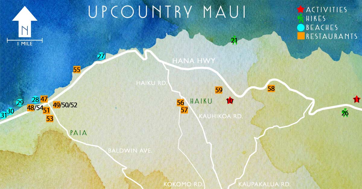 Upcountry Map | Maui's North Shore Lookout