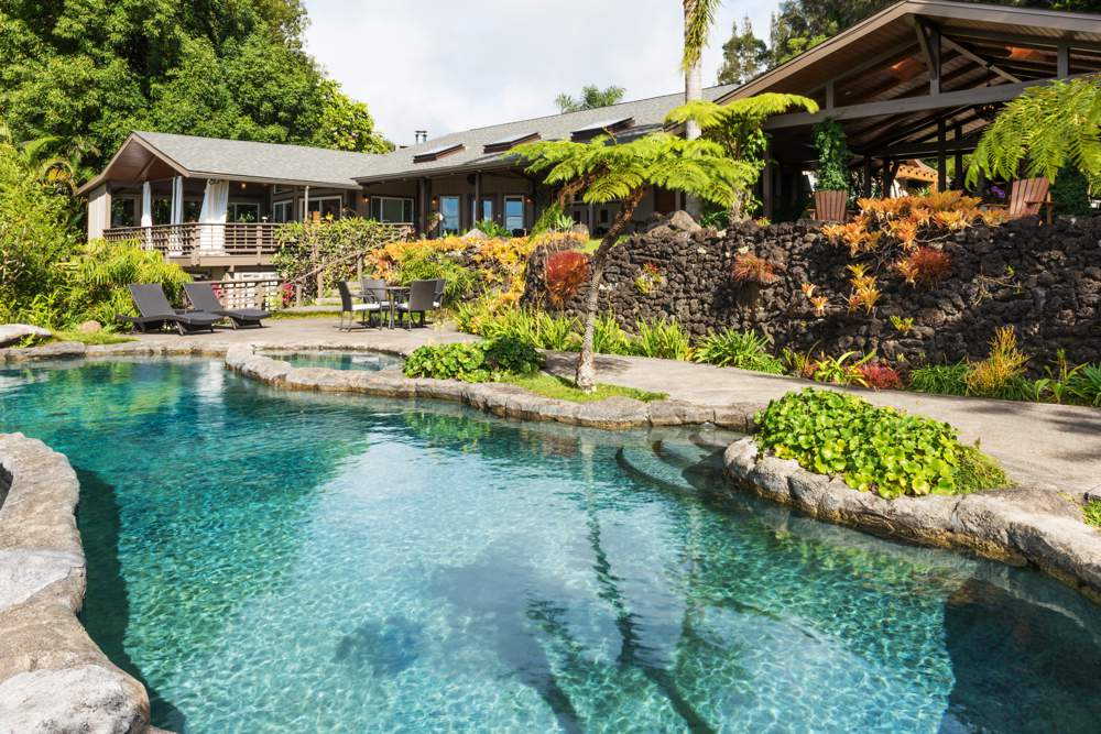 Gorgeous rock pool at this Airbnb in Hawaii
